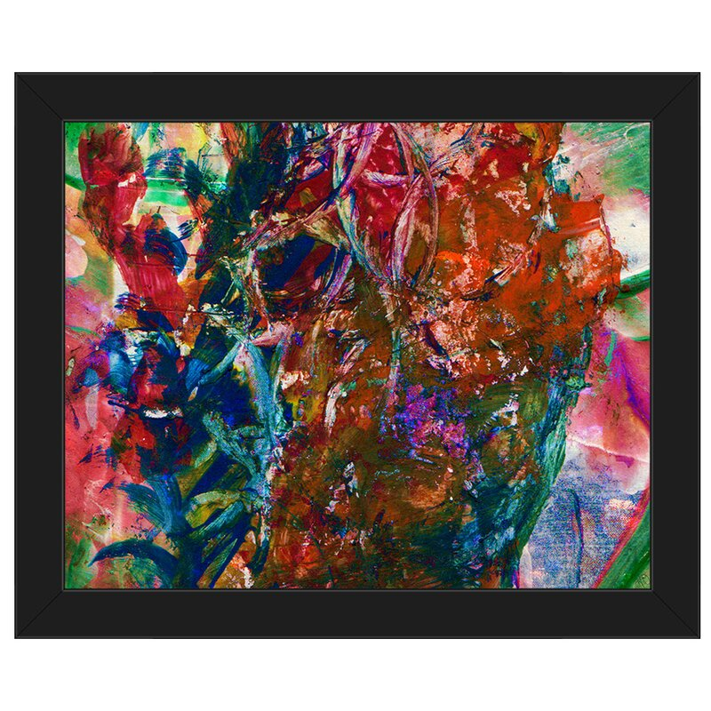 Click Wall Art Chaos Abstract Framed Painting Print On Canvas Wayfair