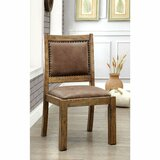 Reyes Upholstered Side Chair in Brown (Set of 2) by Gracie Oaks
