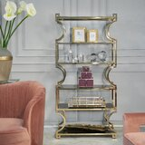Cohan Metal Etagere Bookcase by Everly Quinn