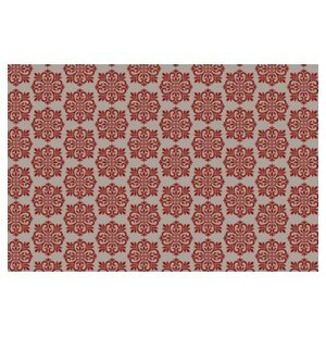 Kayden Modern European Design Red/White Indoor/Outdoor Area Rug