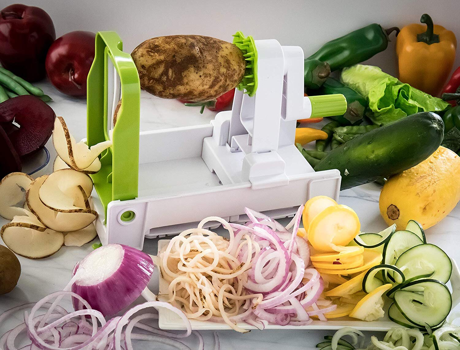 Luxdecorcollection Vegetable Spiral Duty Vegetable Spiral Slicer Reviews Wayfair