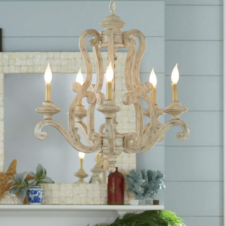 Brighton 5 Light Candle Style Chandelier