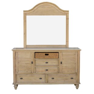 Jettie 4 Drawers Combo Dresser with Mirror by August Grove