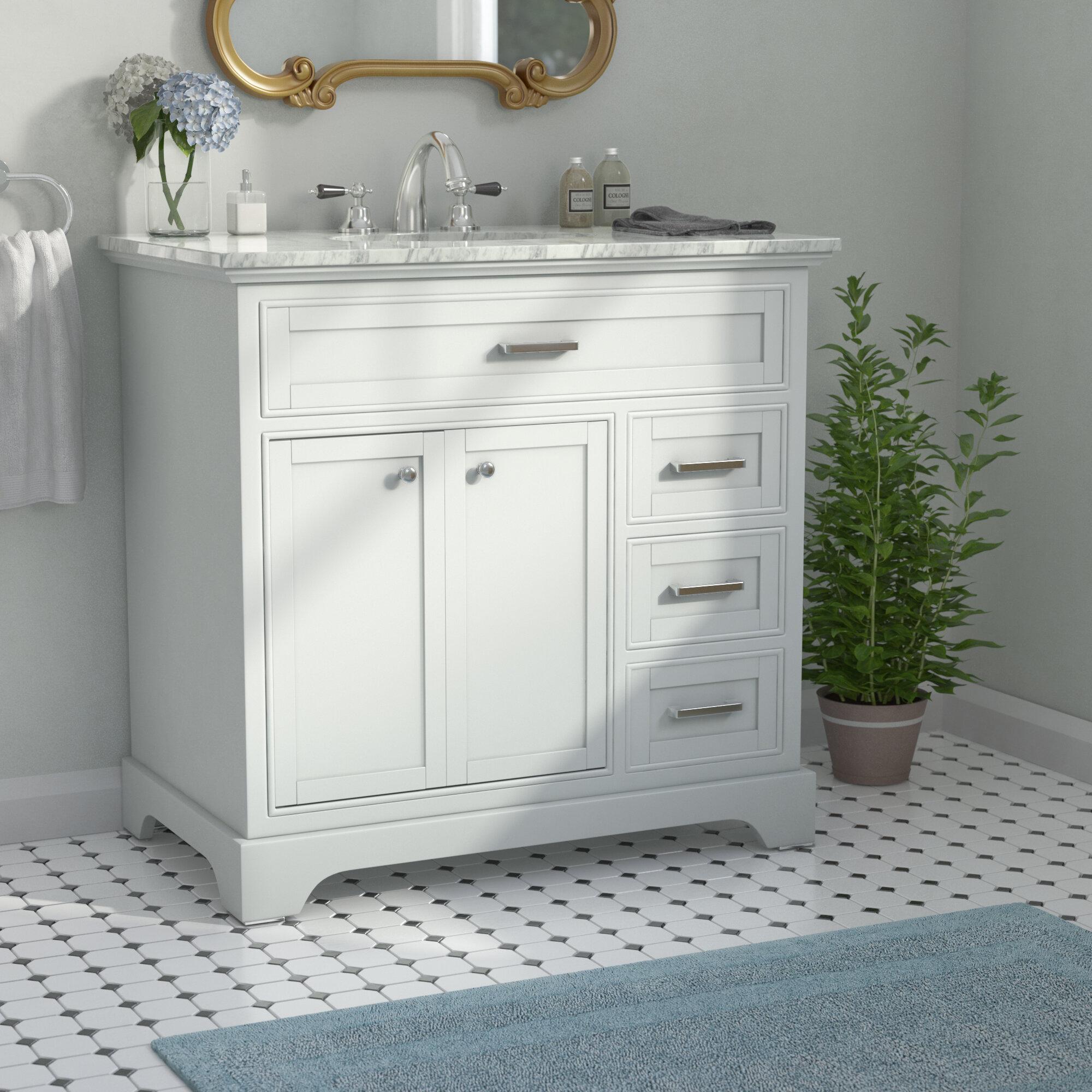 Peachy Darry 36 Single Bathroom Vanity Set Interior Design Ideas Clesiryabchikinfo
