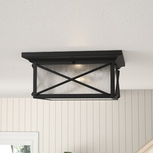 Read Reviews Topeka 2-Light Flush Mount By Three Posts