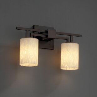 Loon Peak Woodbridge 2-Light Vanity Light