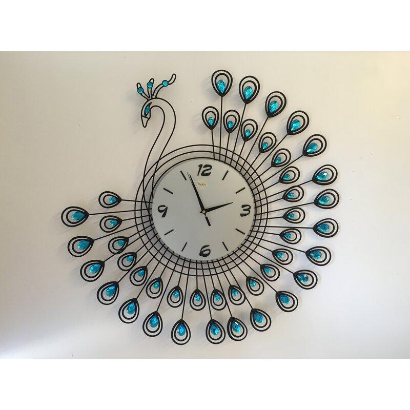 Meida Peacock Wall Clock Reviews Wayfair