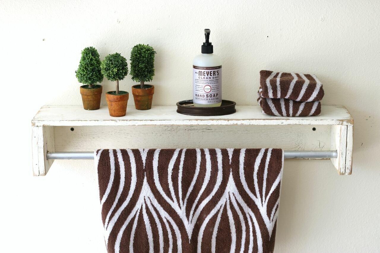 mertens simple towel bar floating shelf