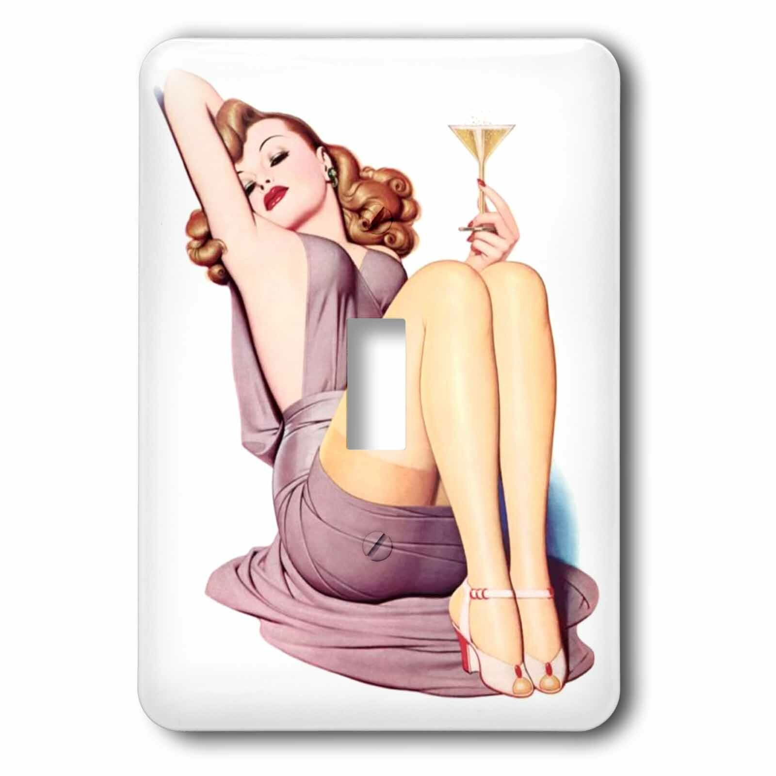 3drose Pinup With Champagne 1 Gang Toggle Light Switch Wall Plate Wayfair