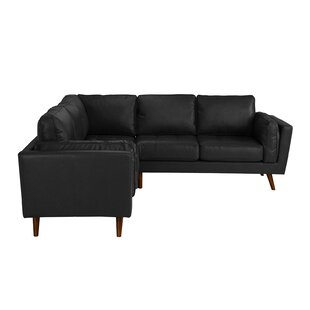 Mid Century Leather Sectional