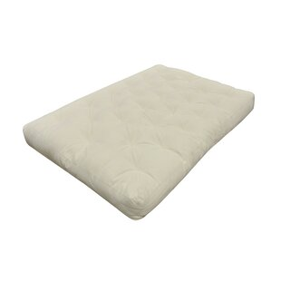 Affordable Price Medium Natural Cotton Futon Mattress by Alwyn Home Reviews (2019) & Buyer's Guide