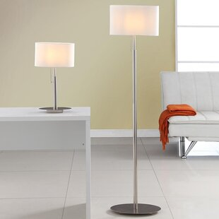 Modern contemporary table and floor lamp sets allmodern audrey european 2 piece table and floor lamp set aloadofball Image collections