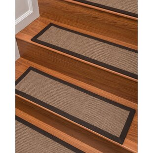 Jacobson Sisal Carpet Brown Stair Tread (Set Of 13)