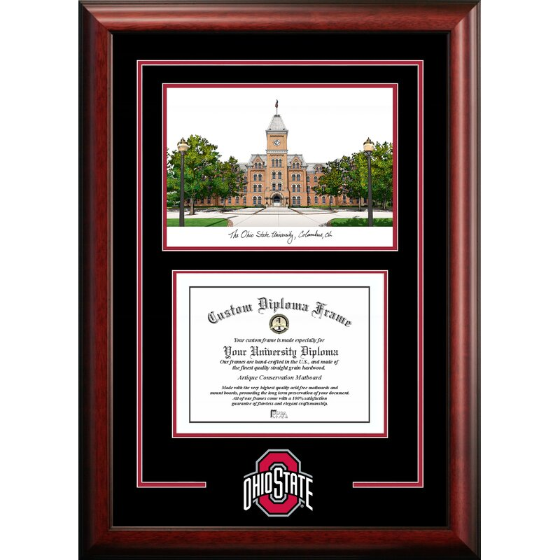 Campus Images NCAA Rutgers Scarlet Knights Spirit Photo Frame Vertical