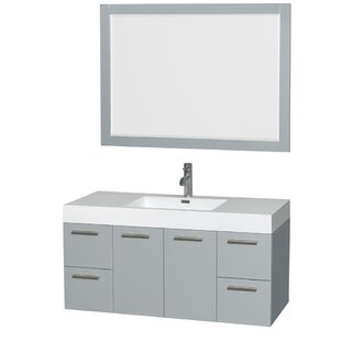 Amare 48 Single Bathroom Vanity Set with Mirror by Wyndham Collection
