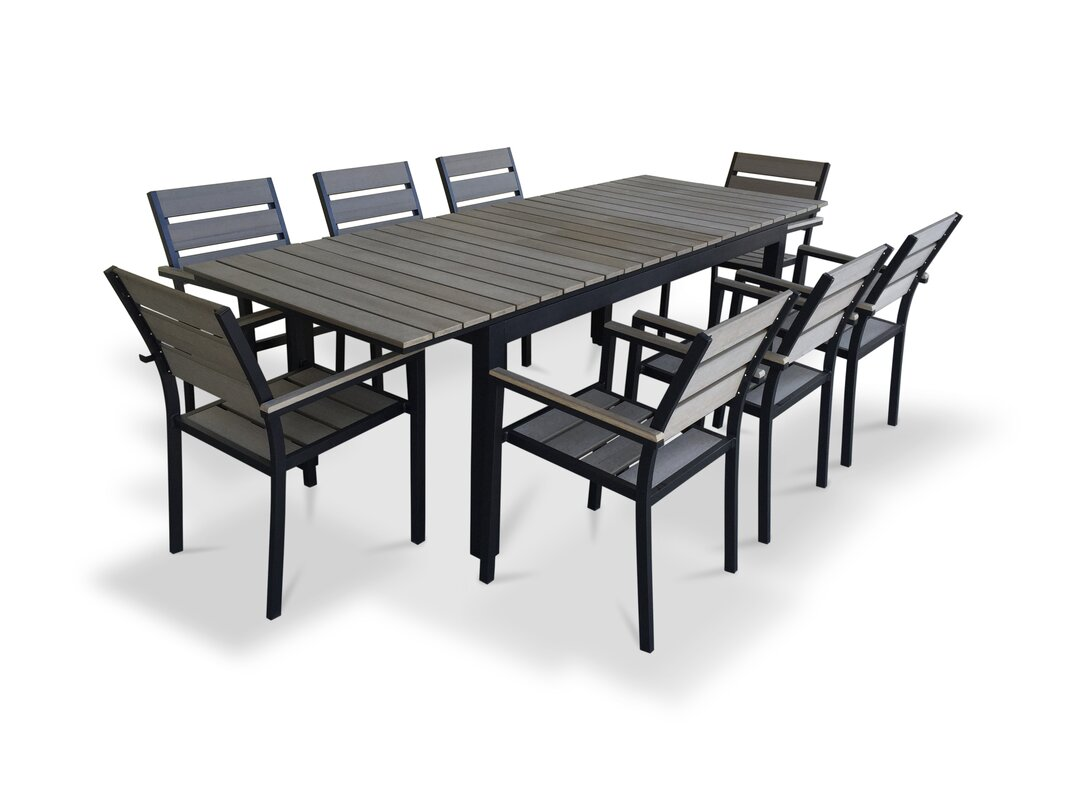 default_name - Urban Furnishings 9 Piece Extendable Outdoor Dining Set & Reviews