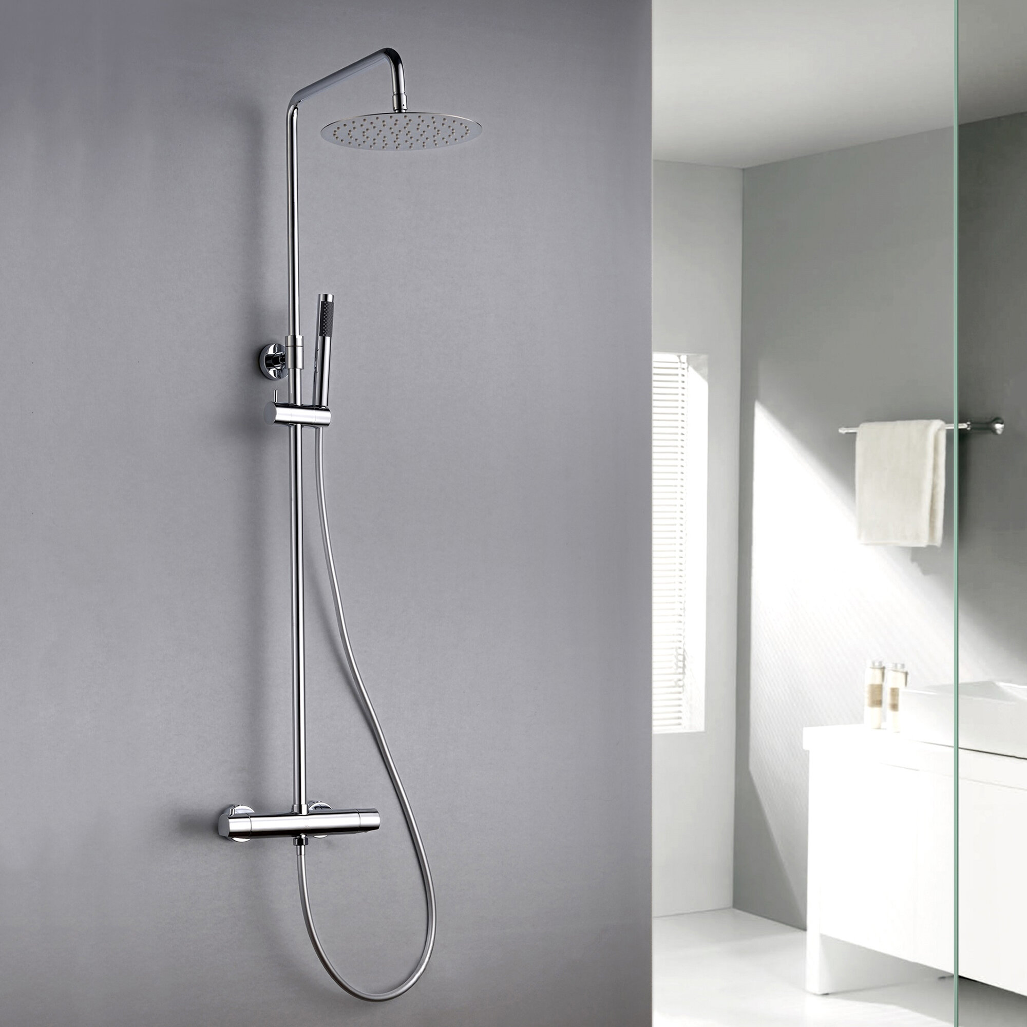 Pippa Thermostatic Complete Shower System