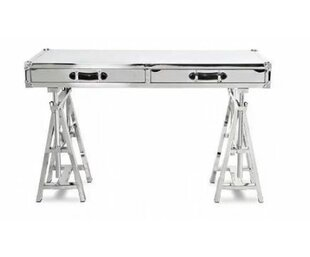 Cronin Glass Adjustable Height Desk by 17 Stories
