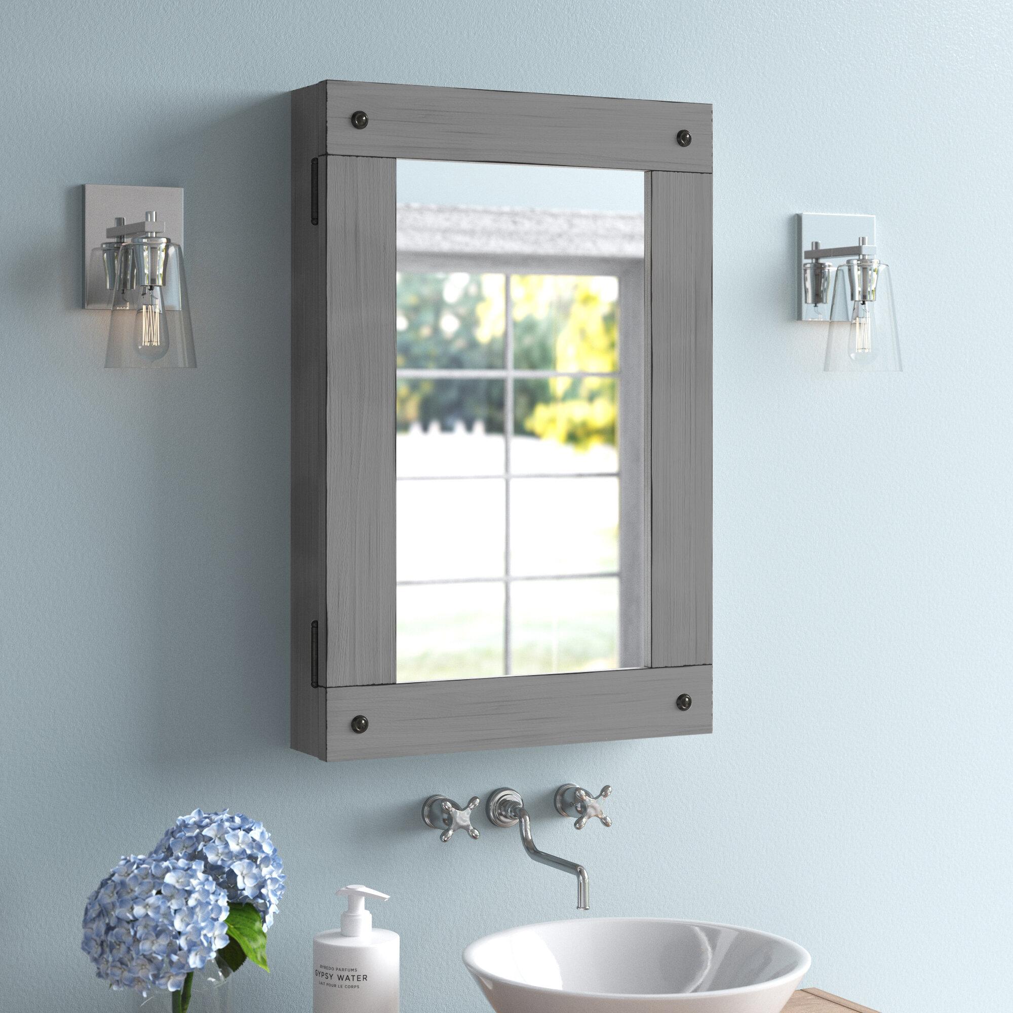 Rosecliff Heights Saffr Walden Surface Mount Framed 1 Door Medicine Cabinet With 2 Adjustable Shelves Reviews Wayfair