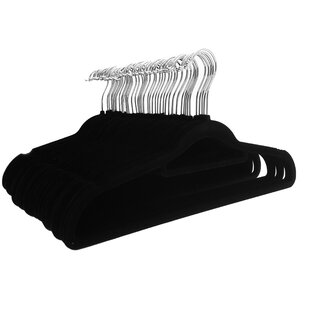 20X Space Saving Rubber Coated Metal Hangers Heavy Duty Quality Hang Black