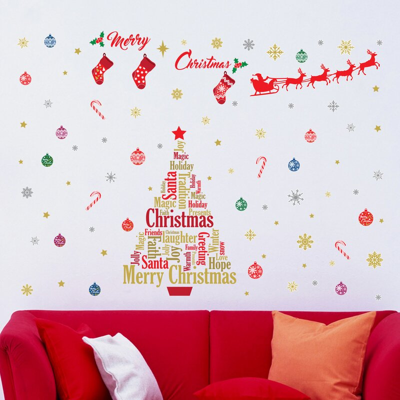 The Holiday Aisle English Quotes Christmas Decoration Wall Decal