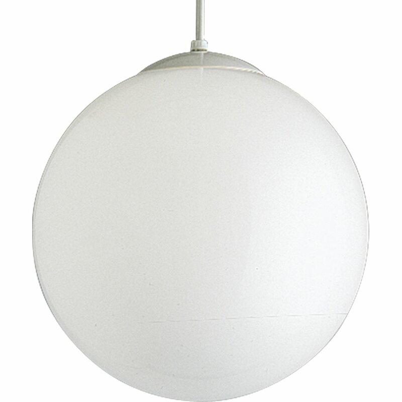 "Turn on the Brights  Bylar 1-Light Globe Pendant Size: 14"" H x 14"" W x 14"" D"