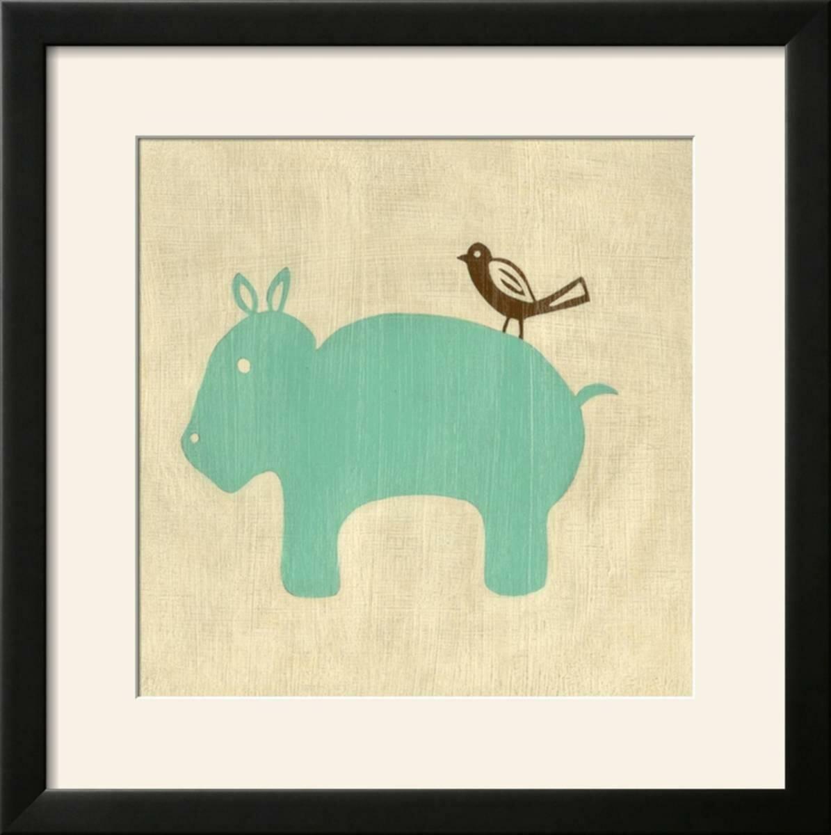 Harriet Bee \'Best Friends - Hippo\' Framed Graphic Art Print | Wayfair
