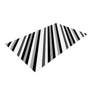 Trebam Kos Diagonal Gray Area Rug