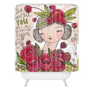 Brayden Studio Donmoyer Dantini Dear Sweet Extra Long Shower Curtain