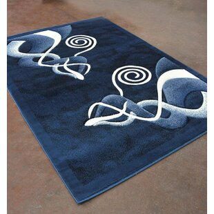 Read Reviews Light Blue/Black Area Rug By Rug Tycoon