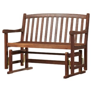 Charlton Home Worcester Glider Wood Garden Bench