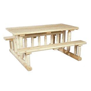 Rustic Natural Cedar Furniture Deluxe Cedar Picnic Table