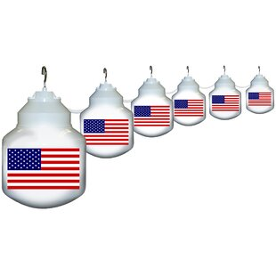 Polymer Products 6-Light American Flag String Lights