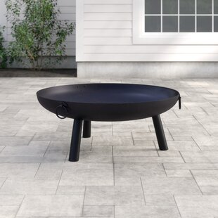 Dakota Steel Charcoal/Wood Burning Fire Pit By Gardeco