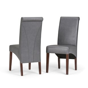 Simpli Home Avalon Deluxe Upholstered Dining Chair (Set of 2)