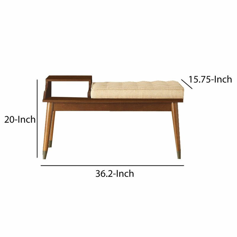 George Oliver Faria Upholstered Storage Bench | Wayfair