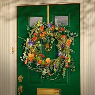 Spring wreaths youll love wayfair 22 fabric floral wreath mightylinksfo
