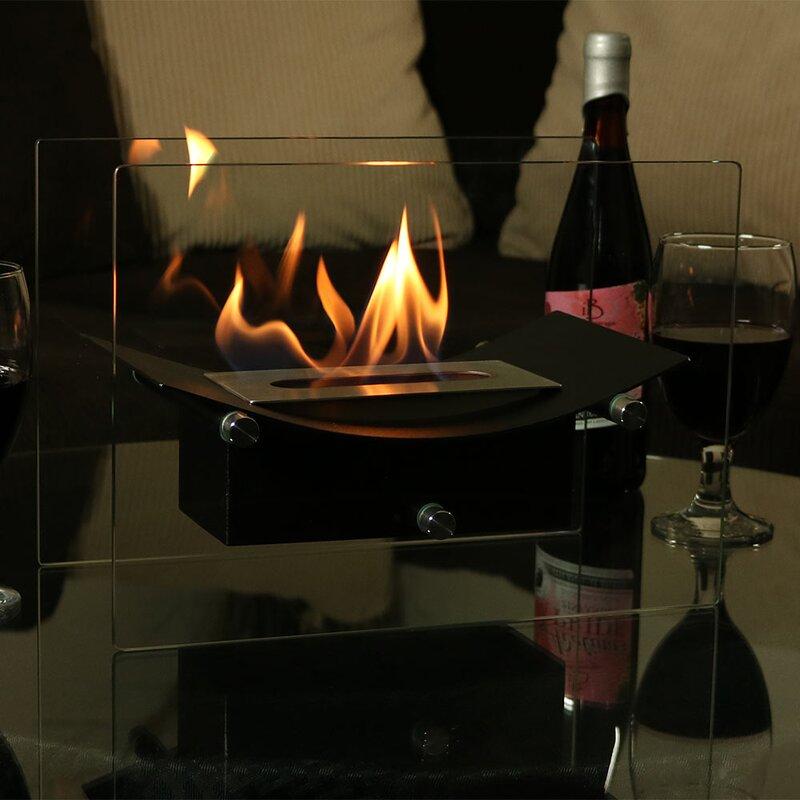 Orren Ellis Slade Ventless Bio Ethanol Tabletop Fireplace Reviews