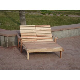 Henry Beach Double Wood Chaise Lounge