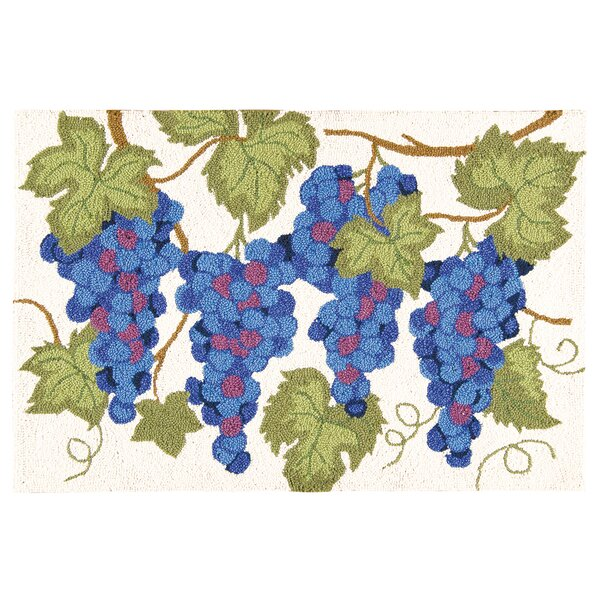 Winston Porter Holsworthy Grapes Wool Cream Blue Area Rug Wayfair