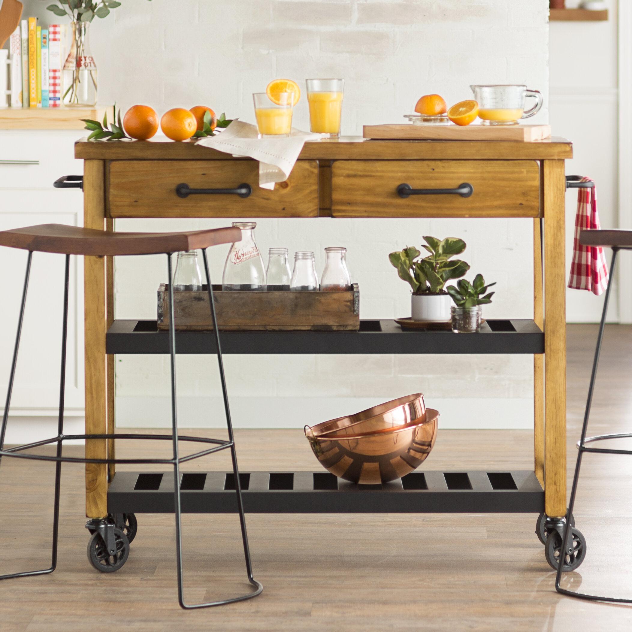 Kitchen islands carts youll love chamberlin kitchen cart workwithnaturefo