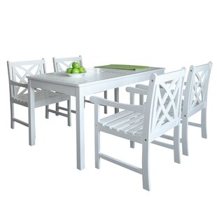 Mahler Outdoor 5 Piece Dining Set