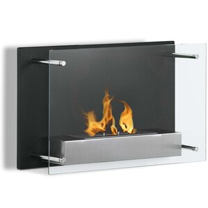 Skandar Ventless Wall Mount Bio Ethanol Fireplace by Orren Ellis