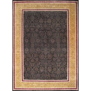Low priced Tabriz Traditional Lamb's Wool Black Area Rug By Pasargad