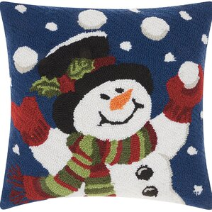 haggerty juggling snowman throw pillow