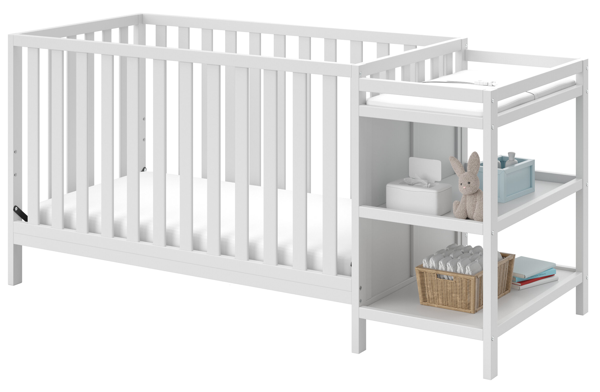 Storkcraft Pacific 4-in-1 Convertible Crib and Changer Combo ...