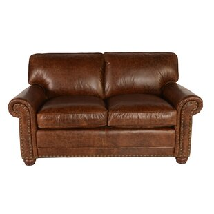 Jakey Leather Loveseat by Darby Home Co Amazing