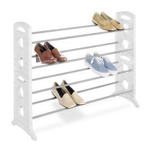 Affordable Price Floor 4-Tier 20 Pair Shoe Rack (Set of 4) By Whitmor, Inc