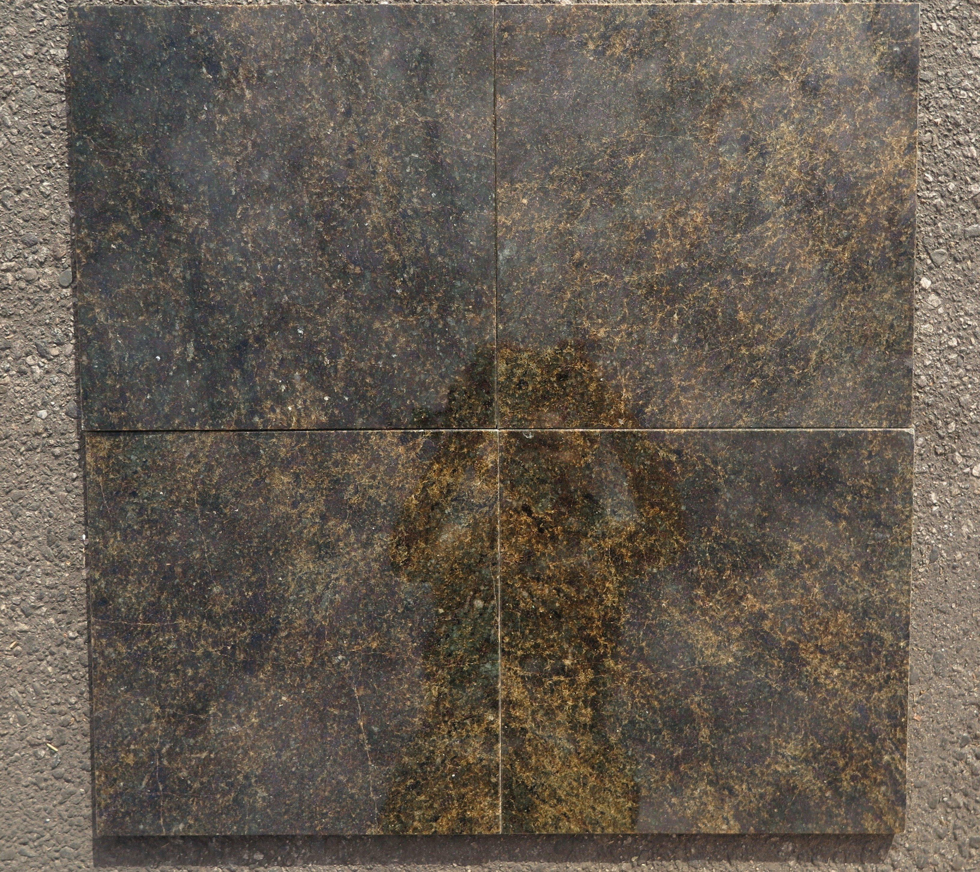 pine green polished 18x18 granite field tile
