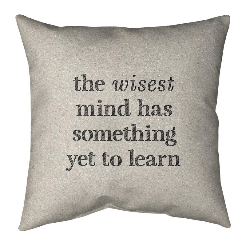 East Urban Home Handwritten Learning Inspirational Quote Linen Pillow Cover Wayfair